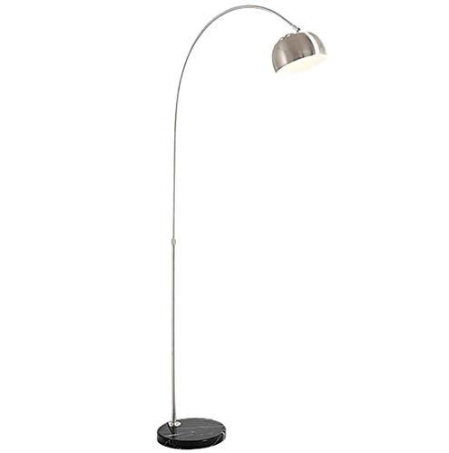 Zzh Stehlampe, E27 Bogenlampe höhenverstellbar Marmorfuß Stehlampe Stehleuchte mit Fußschalter am Kabel und verstellbarem Leuchtenkopf