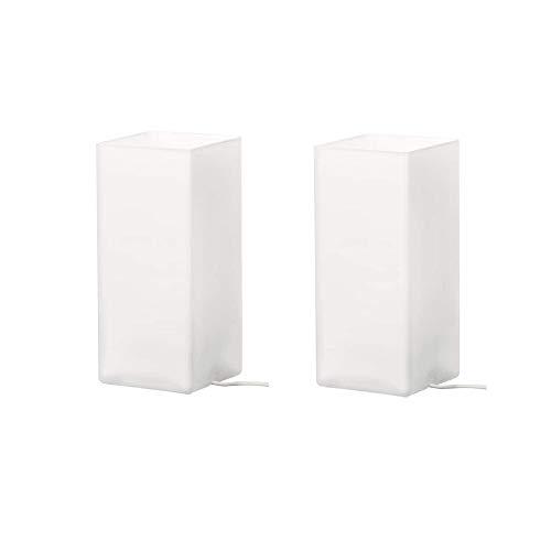 2 XIKEA Tischleuchte GRÖNÖ, Milchglas Weiß