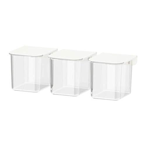 IKEA Skadis Container mit Deckel weiß / 3er Pack 803.359.09
