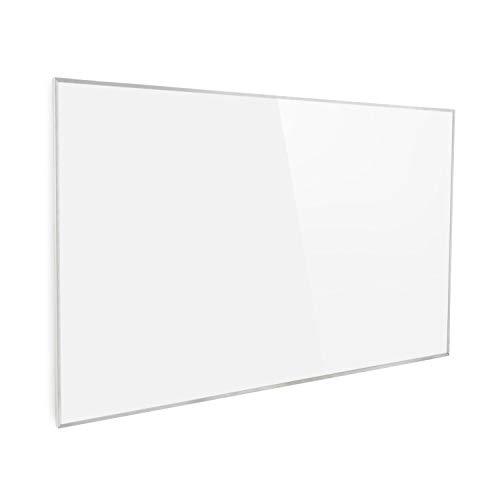 Klarstein Wonderwall 96 Calefactor infrarrojo - Calefactor portátil, Panel de 80 x 120 cm, 960 W, Tecnología de cristal de carbono, Programable, Autoapagado, Para alérgicos, IP24, Blanco