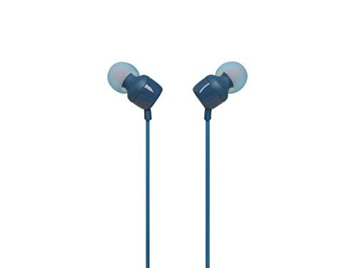 JBL TUNE 110 – Fone de ouvido intra-auricular com controle remoto de um botão – Azul