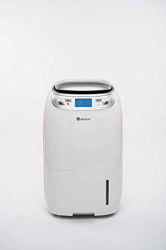 Meaco 25L Low Energy Dehumidifier With DC Motor For Damp Condensation and Mould Removal Exclusive 3 Year Warranty Backed Rapid Control Of Humidity Indoor Laundry Drying Devola Led Keyring