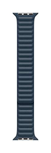 Apple Watch (44mm) Lederarmband mit Endstück, Baltischblau - Large