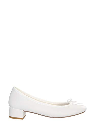 Repetto Luxury Fashion Damen V511VE050 Weiss Leder Ballerinas | Herbst Winter 20