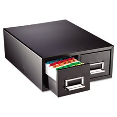 """Drawer Card Cabinet Holds 3,000 5 x 8 cards, 18 2/5"""" x 16"""" x 7 1/4"""""""