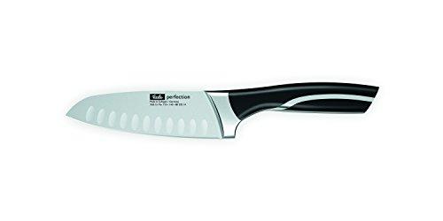 Fissler perfection / Santoku-Messer (Ø 14 cm) Kochmesser, Japanisches-Küchenmesser, extrem scharf, mit Kullen, rutschfeste Kunststoffgriffe