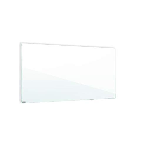 ETHERMA LAVA® Infrarotheizung, Glasheizkörper, 1000 W, 63 x 160 x 3 cm, Oberfläche aus 6 mm ESG-Sicherheitsglas, Made in Austria, TÜV, 5 Jahre Garantie, Farbe: weißgrün, LAVA2-GLAS-1000-WG