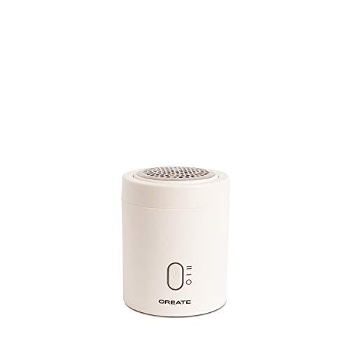 Create IKOHS IKOHS FLUZZY - Quitapelusas Eléctrico Adecuado para Todas Las Prendas, Diseño Mini, Batería Recargable USB, Compacto, Ligero, Elimina Pelusas de la Ropa, Jerseys, Lana (Blanco)