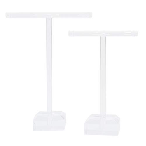 Cabilock 6 Piezas Pendientes de Acrílico Soporte de Pie en Forma de T Pendientes de Oreja Expositor Organizador de Joyería (Transparente)