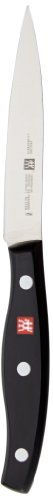 ZWILLING Cuchillo de mechar, Longitud de la hoja: 10 cm, Hoja pequeña, Mango especial de acero inoxidable/plástico, Twin Pollux