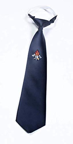 Feuerwehr Krawatte dunkelblau vorgebunden Gummizug mit gestickten Emblem von MBS-FIRE®