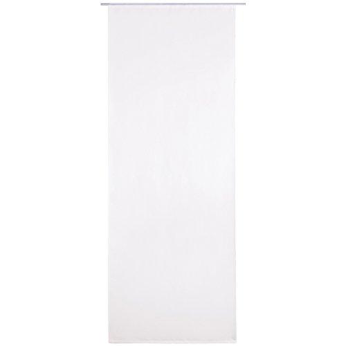 Bestlivings Flächen-Vorhang Blickdicht Schiebe-gardine Raumteiler Schiebe-Vorhang ca.60cm x 245cm, Auswahl: mit Zubehör, weiß - perlweiß