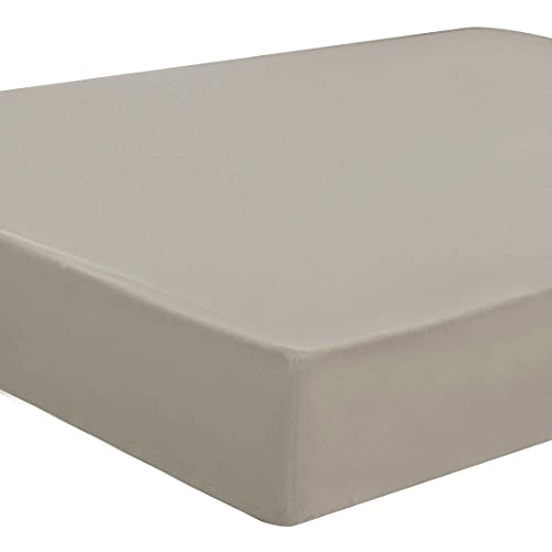 Sábana bajera ajustable Protector de colchón 100% 5 lados TPU Protector de colchón impermeable de microfibra cepillada gris 200 x 200-200 x 220 cm