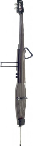 Stagg EDB-3/4RDL DBR Deluxe 3/4 Size Electric Double Bass with Gig Bag Included - Dark Brown