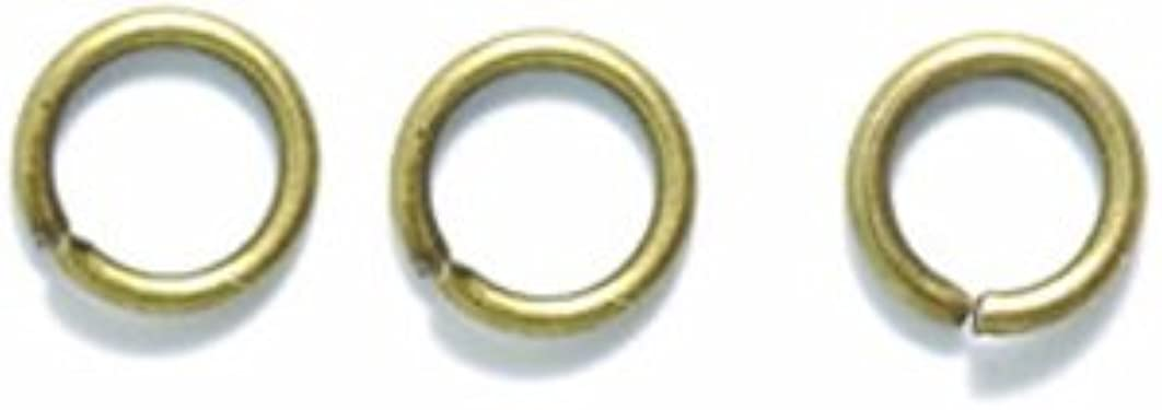 Shipwreck Beads 6FI221-AB Jump Rings 6 mm Antique Brass