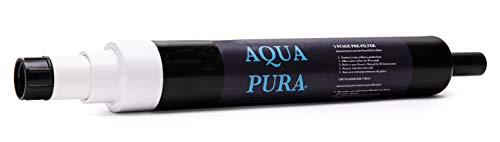 AQUA PURA 5-Stage Pre-Filter for spas and hot tubs and Water Purification- Garden Hose Attachment