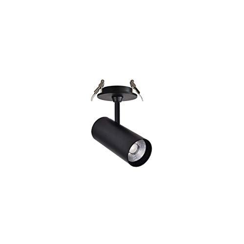 Enlylyog Foco de Techo LED Superficie Montada Montado Embedded Hogar de la Sala de Estar Luz de Techo Brillante y Duradero Ajustable Ángulo Abrir Agujero Techo COB Luz de Orificio