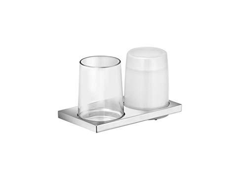 Keuco 11153019000 Doppelhalter Edition, komplett, Echtkristall-Glas, verchromt