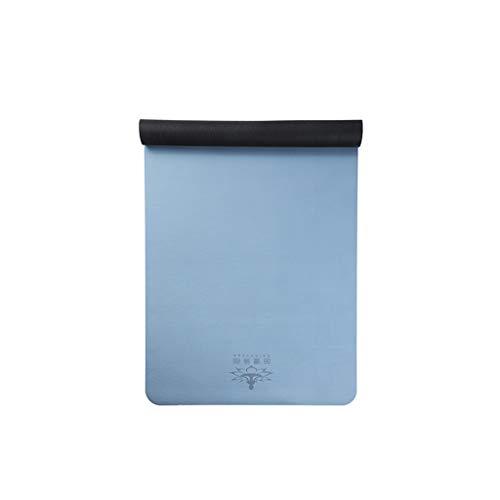 hsj LF- Esterilla de yoga para mujer, ampliada, gruesa, para principiantes, deportes, yoga, manta alargada, antideslizante, alfombrilla de fitness (color: E, tamaño: 183 x 68 x 1,5 mm)