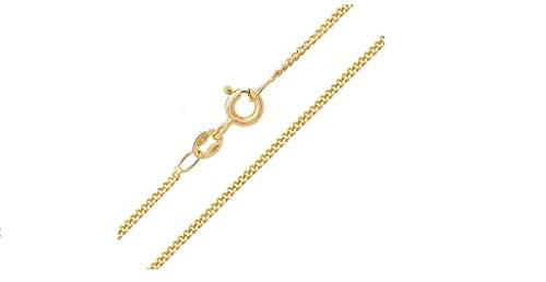 N/D Gioielli-Collar-Cadena-Cadena - Plata 925% Sterling Longitud 45cm Ancho 1.1mm Peso 1.47gr - Placada Oro Amarillo Laparella Jewelry