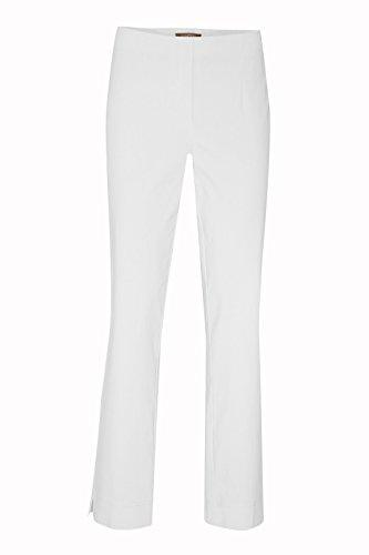 Stehmann - Stretchhose INA 740 - VIELE Farben - Mit EXTRA-Fashion Armreif -Gerade geschnittene Pull-On Hose mit Schlitz, Hosengröße:42, Farbe:weiß