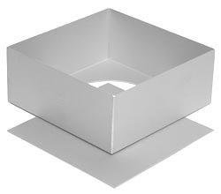 Alan Silverwood Plat à gâteaux carré avec Fond Amovible 20 cm