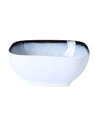 Bol à soupe de nouilles Saladier en céramique Noodle Bowl Nordic Simple Bol Carré Home Rice Bowl Personnalité Bol à soupe Creative Flow Glaze Vaisselle, trois tailles Bols à céréales
