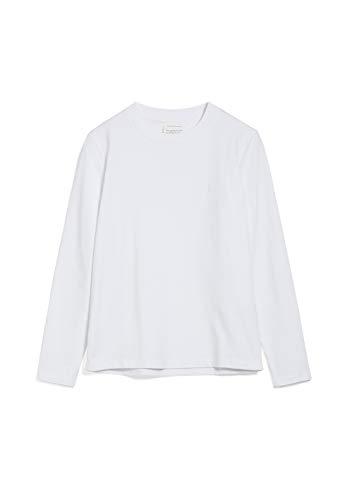 ARMEDANGELS TAAMI - Damen Longsleeve aus Bio-Baumwolle L White Shirts Longsleeve...