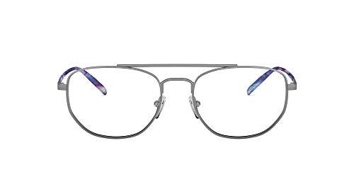 ARNETTE An6125 Layne - Marco rectangular para gafas, Lente de metal cepillado/Demo.,