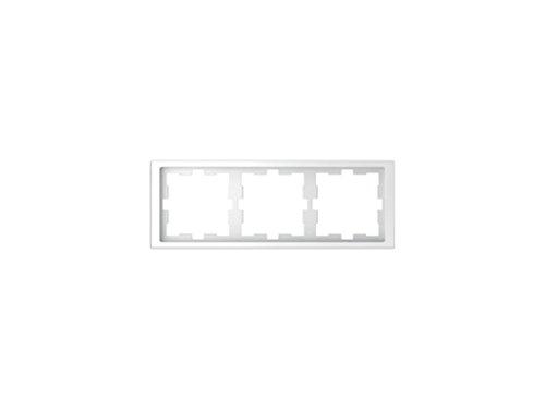 Schneider Electric MTN4030-6535 Marco con 3 Elementos de La Gama D-Life para Montaje Horizontal y Vertical, en Policarbonato Brillante, Ártico