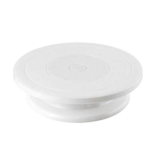 Watooma Plato giratorio para tartas con plato giratorio de 27,5 cm y...