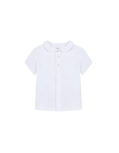 Gocco Camisa Cuello BEBÉ (Blanco WA), 92 (Tamaño del Fabricante:18/24) para Bebés