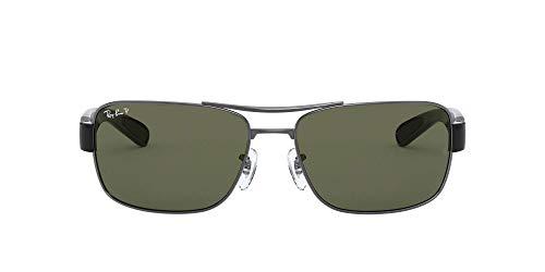 Ray-Ban RB 3522 Gafas de sol, Gunmetal, 64 para Hombre
