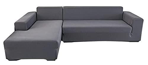 BEYRFCTA Funda de sofá de una pieza, funda elástica para sofá, funda de sofá de una pieza, apta para Children, Office-Gray_Single 90 x 140 cm