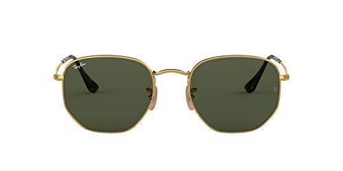 Ray-Ban Hexagonal Flat Lenses Gafas de sol, Oro (Gold), 51 para Hombre