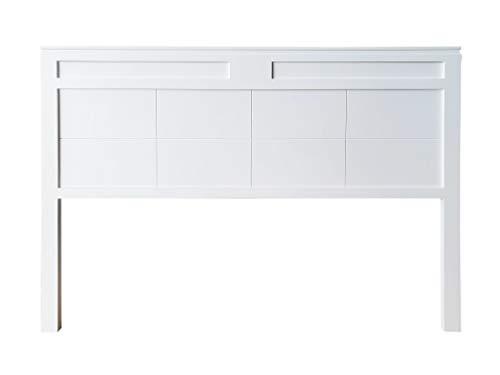 cabecero Siena Fabricado en Madera Maciza de Pino insigni Acabado en Blanco (para Cama de 135 (145 x 120 cm), Doble Tabla)