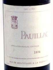 PAUILLAC - 3EME VIN DE LATOUR 1974, Pauillac