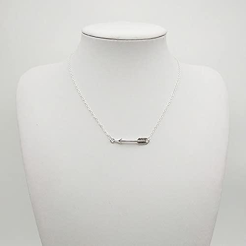 Collares Joyería Colgantes Collar Corto De Metal Simple Minimalista De Europa Y Estados Unidos Regalos 9-Plata