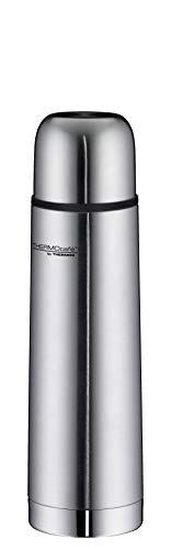 ThermoCafé by THERMOS 4058.205.050 Thermosflasche Everyday, Edelstahl mattiert 0,5 l, Drehverschluss mit Trinkbecher, BPA-Free