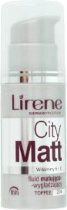 Lirene CITY MATT matting-smoothing make up - toffe (30ml)