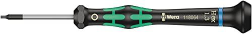 Wera Tools WER118064 - Destornillador hexagonal para usos electrónicos, Hex-Plus, 1.3 x 40 mm