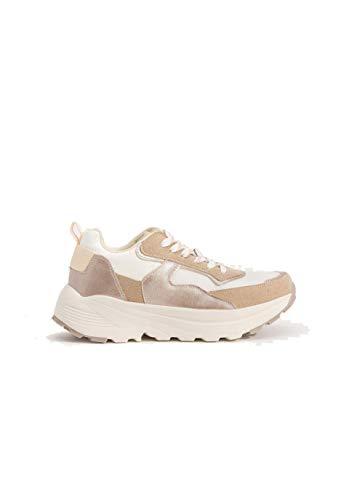 Zapatillas suela maxi mujer - 37, Blanco