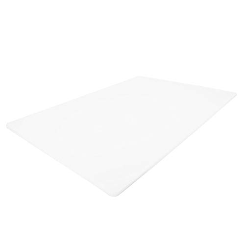 Commercial White Plastic Cutting Board NSF, Extra Large, 24 x 18 x 0.5 Inch - BPA Free