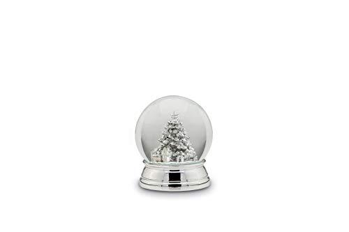 Unbekannt Schneekugel Christbaum, XL, versilbert, H 12,0cm D 10,0cm