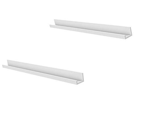 Unbekannt IKEA MOSSLANDA - Listones para cuadros (115 cm, 2 unidades), color blanco