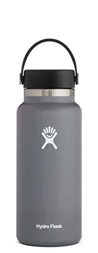 Hydro Flask Trinkflasche, Edelstahl und vakuumisoliert, große Öffnung mit auslaufsicherer Flex Cap, Stone, 946ml (32oz)
