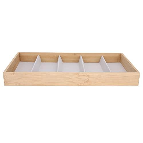 Organizador de joyas Material de madera de bambú de moda Protección del medio ambiente Organizador de exhibición de gafas para hombres para niñas y mujeres(gray)