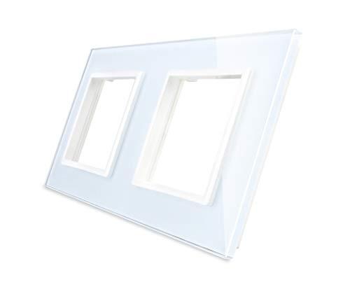 Nur Glasblende 2 Fach LIVOLO Rahmen Glasrahmen für Steckdose VL-C7-SR/SR-11-A Weiss