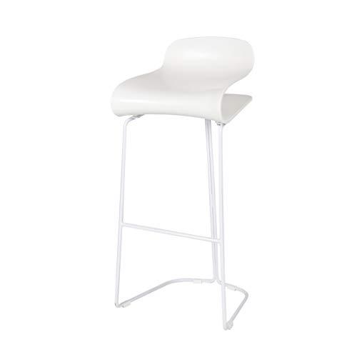 Moderne Bunte Barhocker Zeitgenössische Abs Kunststoff Sitz Stuhl Kaffee Bar, Esszimmer, Küche, Bar, Büro Barhocker,Weiß,75cm