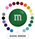 M&M's Dark Green Milk Chocolate Candy 5LB Bag (Bulk)